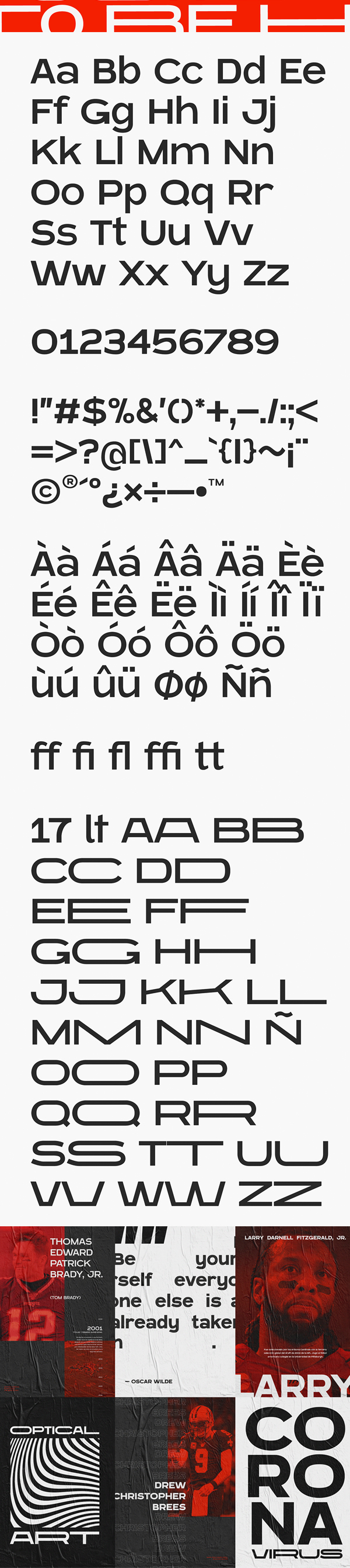 Blatant Free Font Letters