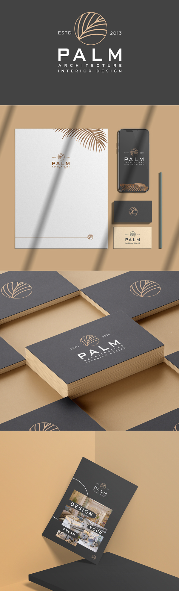 Palm Interior Design Branding by Abdelrahman Khaled