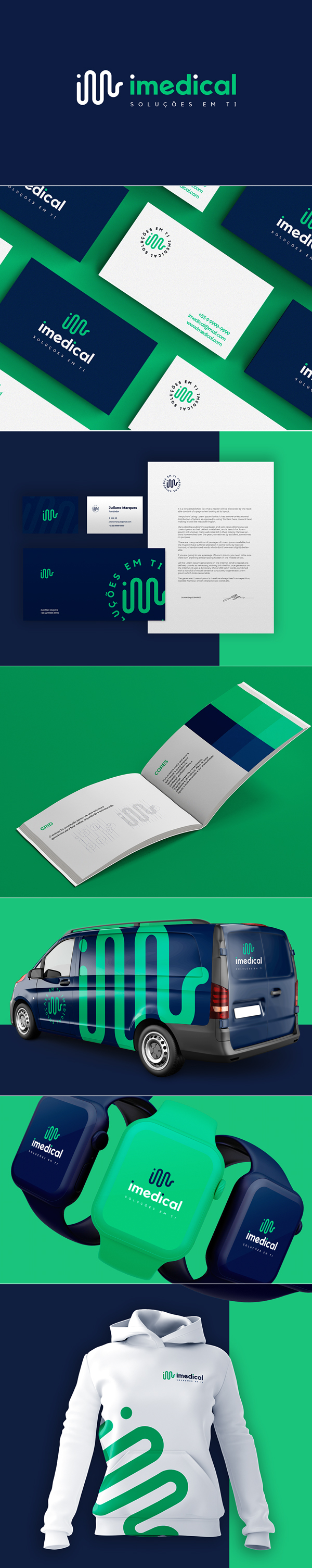 iMedical Visual Identity by Marina Gomes