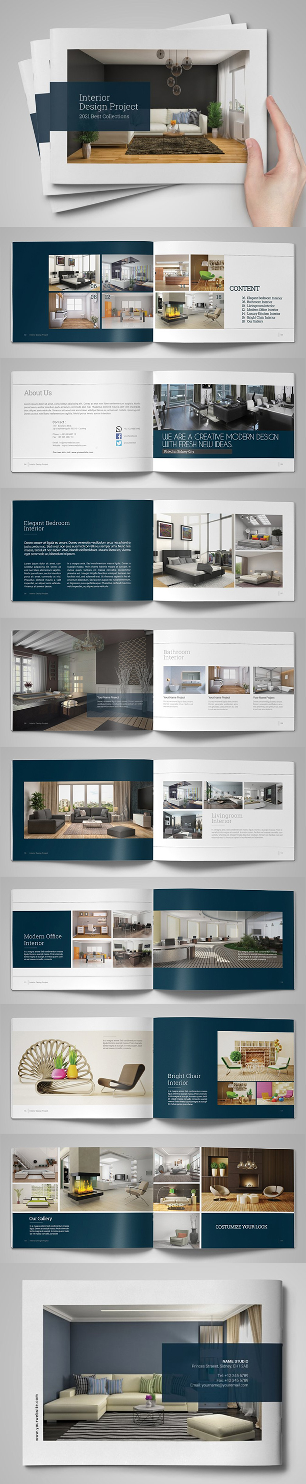 Interior Brochure Catalog Design Template