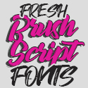 Post thumbnail of 30+ Fresh Brush Fonts and Script Fonts