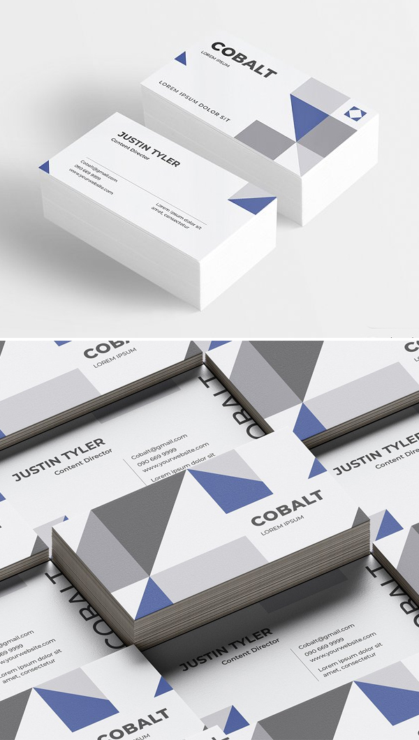 Cobalt - Business Card Template