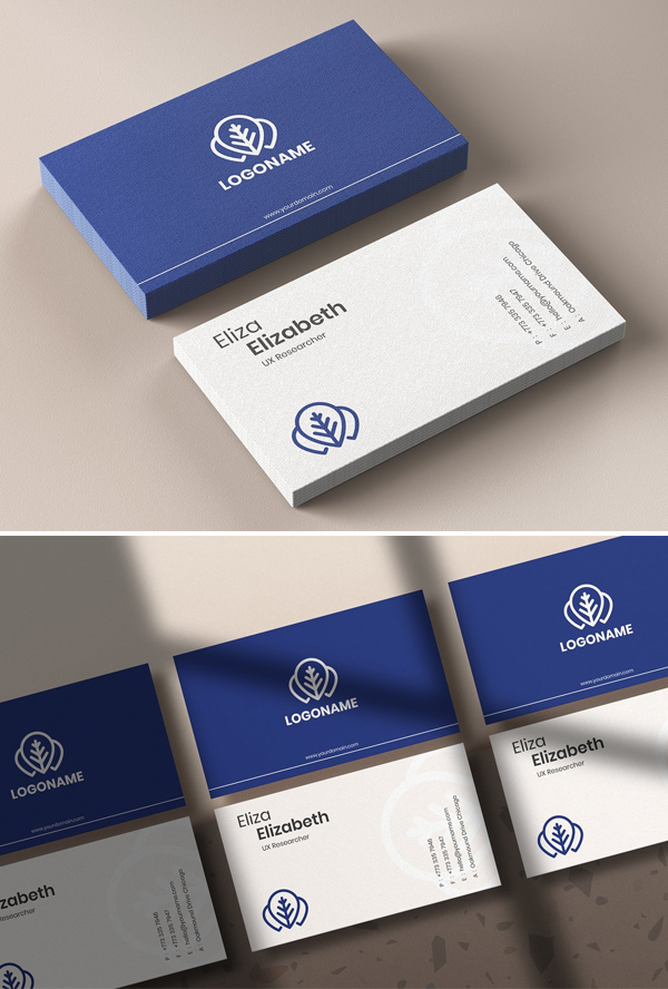 Clean Business Card & Mockup