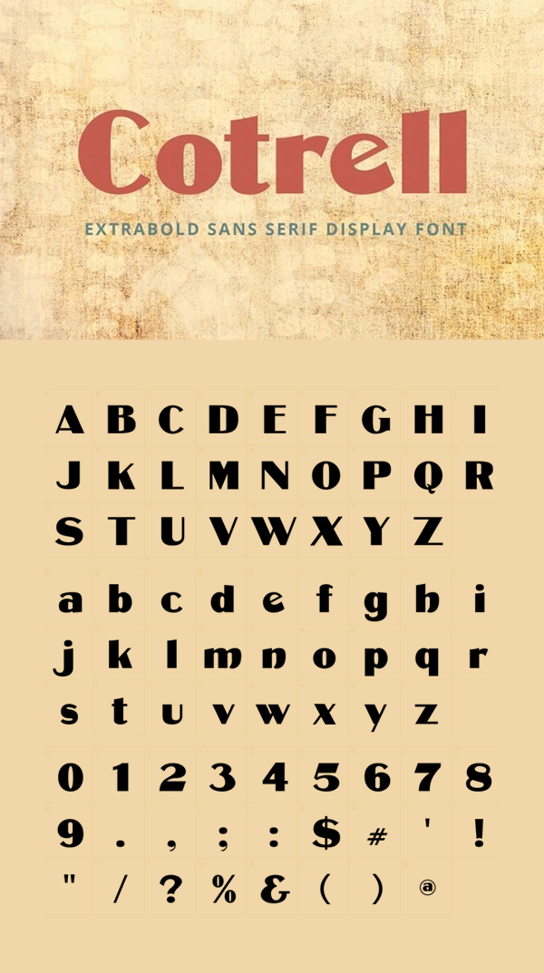 Cotrell CF ExtraBold Free Font