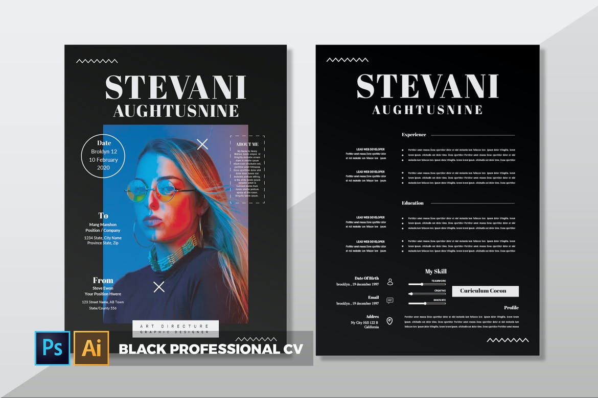 Black Professional CV Resume