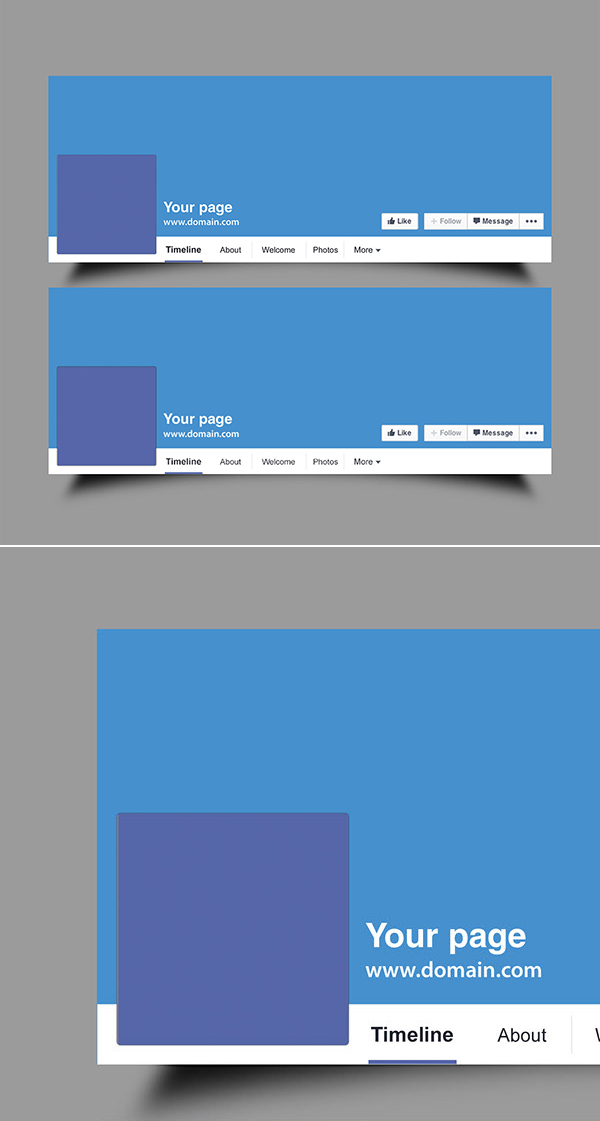 Free Facebook Cover PSD Mockup