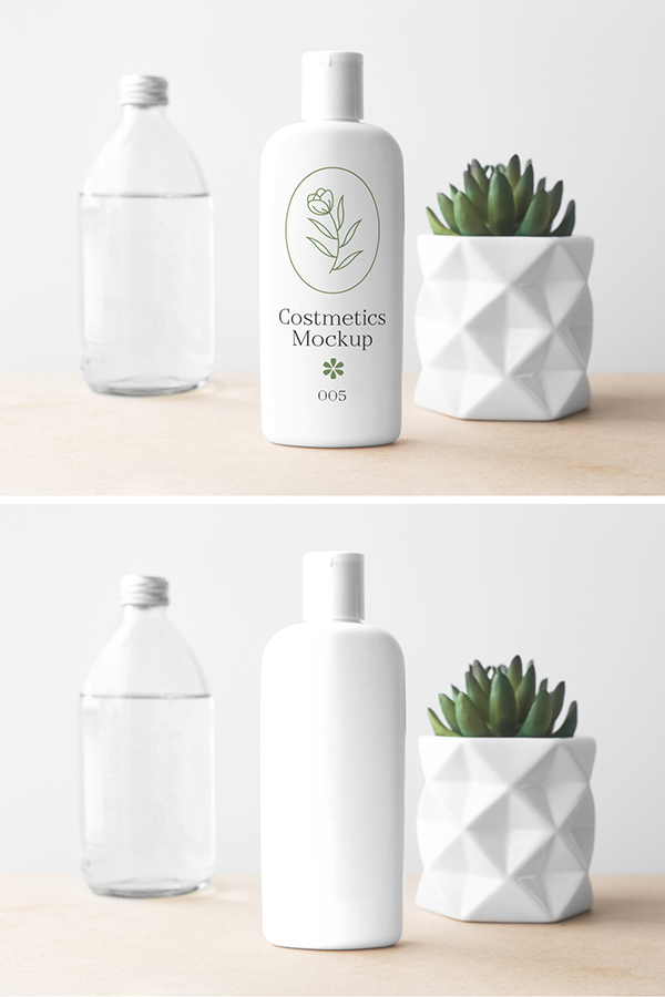 Cosmetics Bottle PSD Mockup