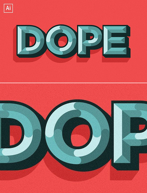 How to Create Chiseled Text Effect Tutorial in Adobe Illustrator