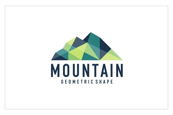 Abstract geometric mountain logo