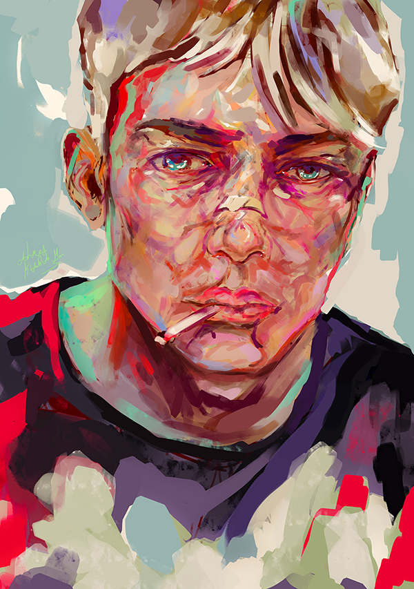 Ahmed Karam's Digital Portraits Painting Illustrtions- 21