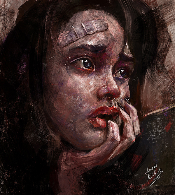 Ahmed Karam's Digital Portraits Painting Illustrtions- 23