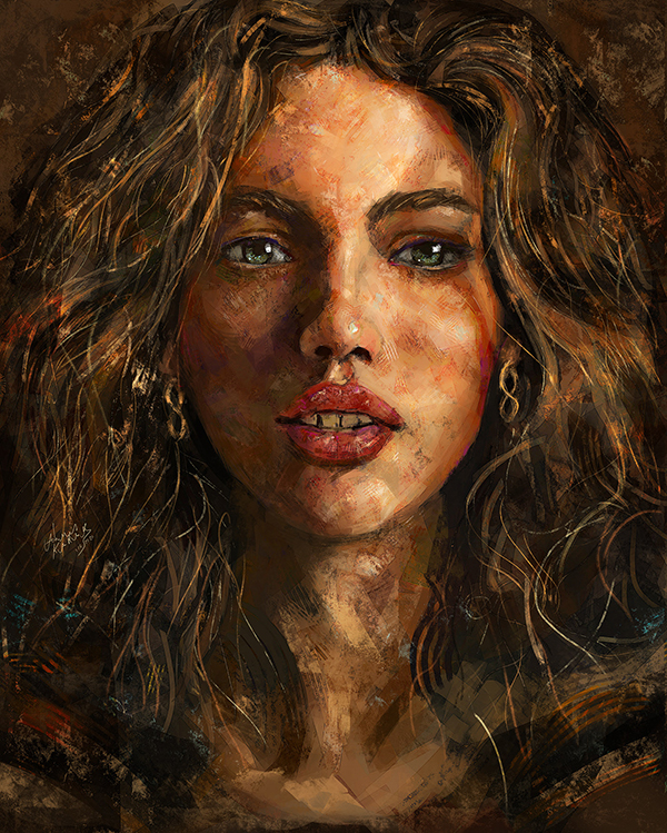 Ahmed Karam's Digital Portraits Painting Illustrtions- 8