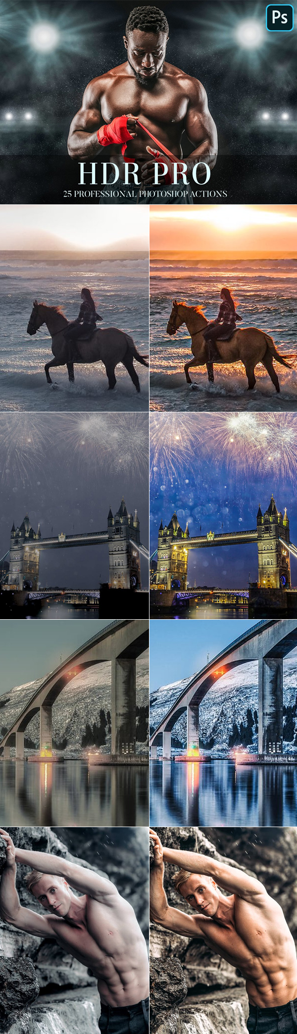 Photoshop Actions - HDR Pro