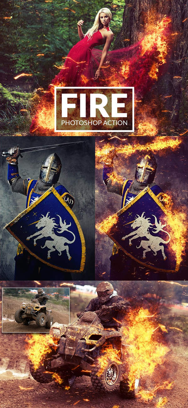 Amazing Fire Photoshop Action