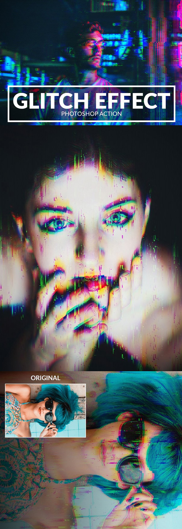 Glitch Effect Photoshop Action