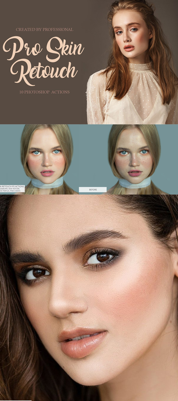Pro Skin Retouch Photoshop Actions