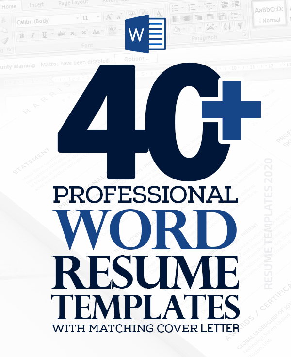 40+ Professional Word Resume Templates