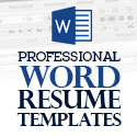 Post Thumbnail of 40+ Professional Word Resume Templates