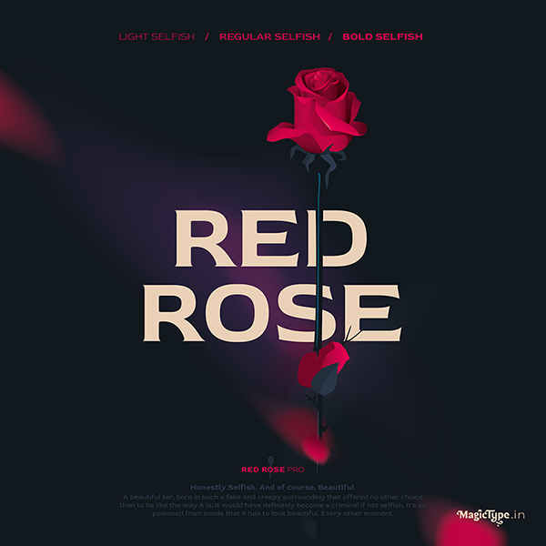 Red Rose Free Font