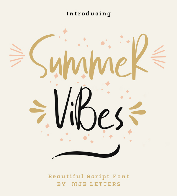 Summer Vibes Free Font Free Font