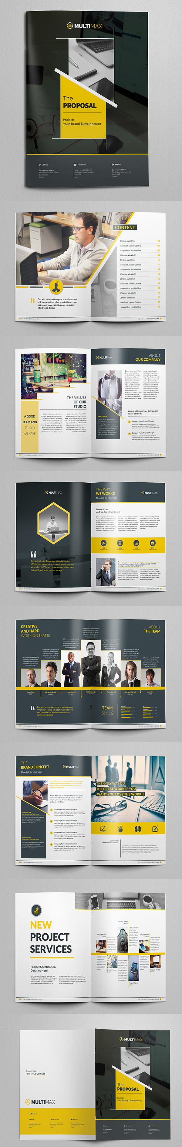 Modern Business Proposal Brochure / Category Design