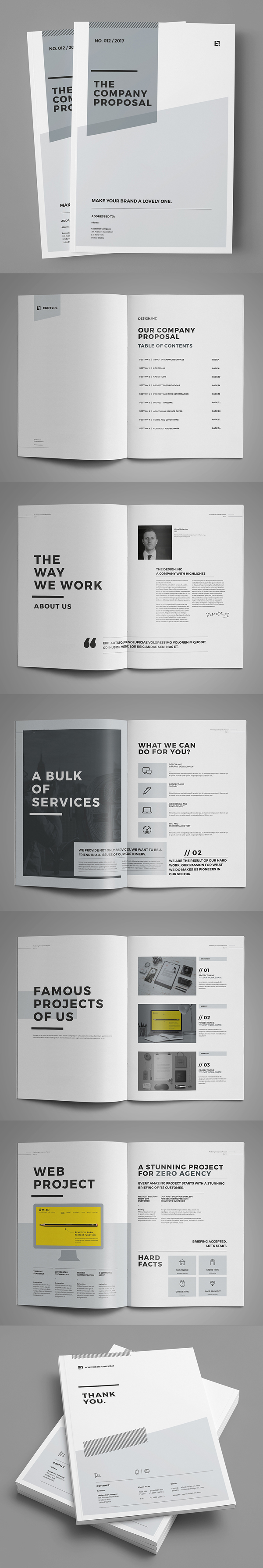 Minimal and Professional Proposal Brochure Template (36 Pages)