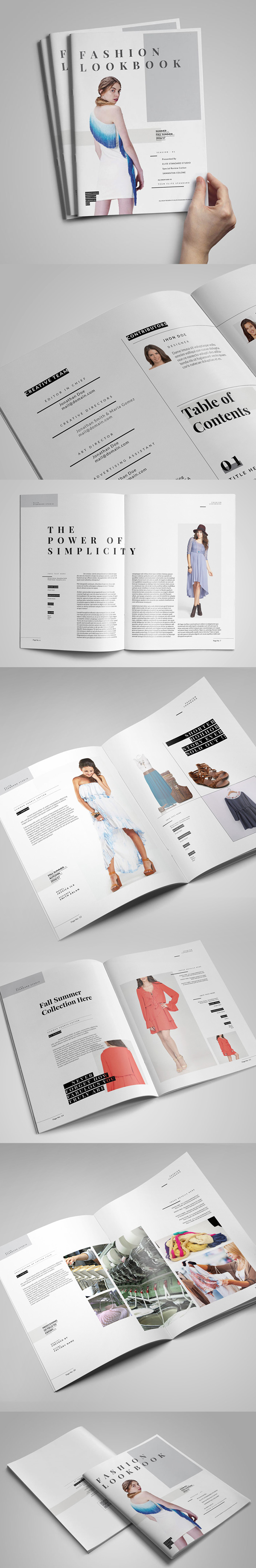 Minimal Fashion Look book / Catalog Template