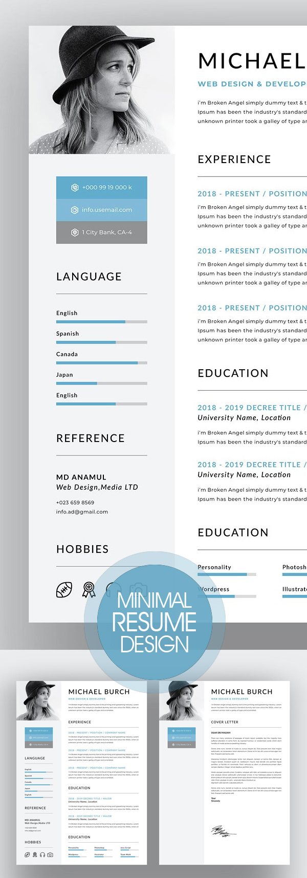 Creative Minimal Resume Design