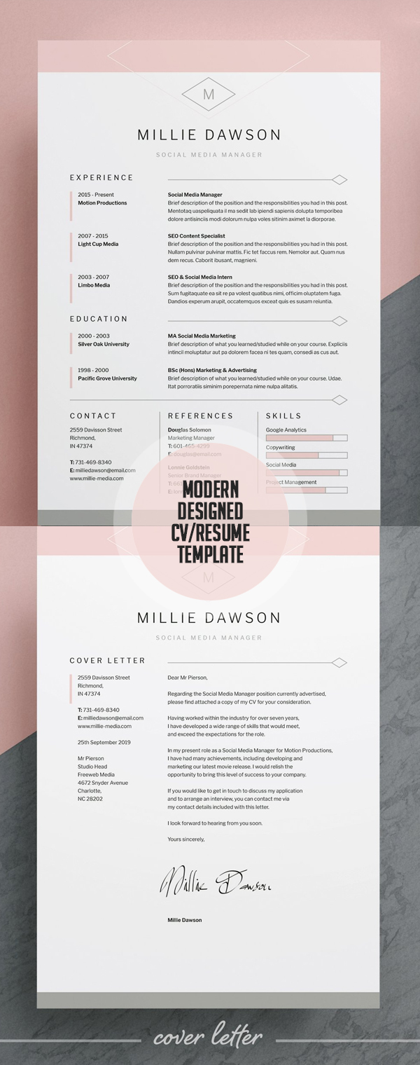 Modern Designed Resume/CV Template