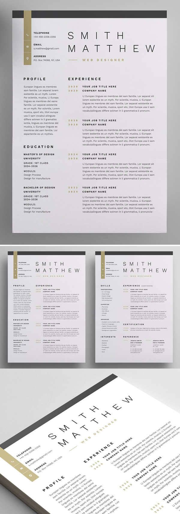 Resume and Letterhead Design