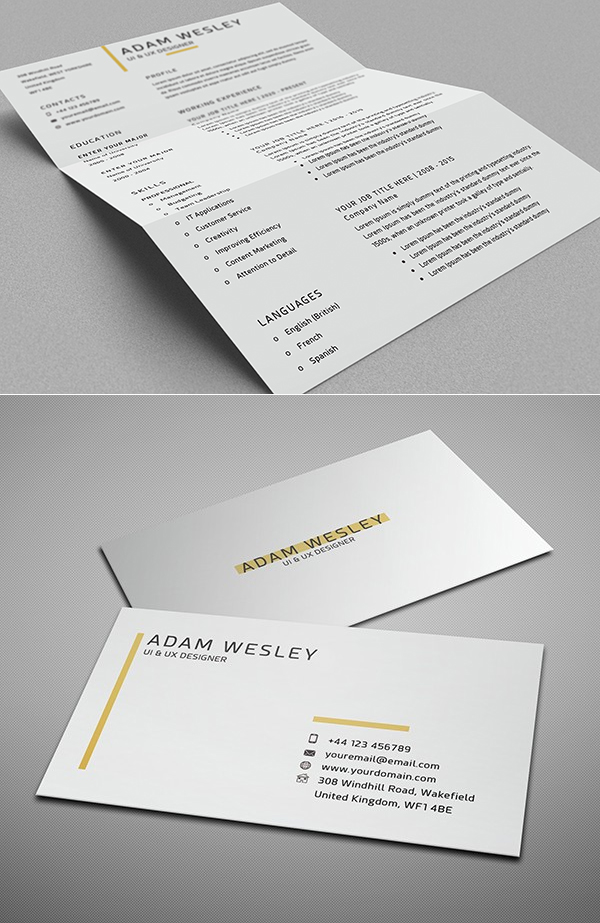 Free Resume Template + Cover Letter + Business Card