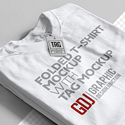 Post thumbnail of Free Folded T-Shirt Mockup PSD