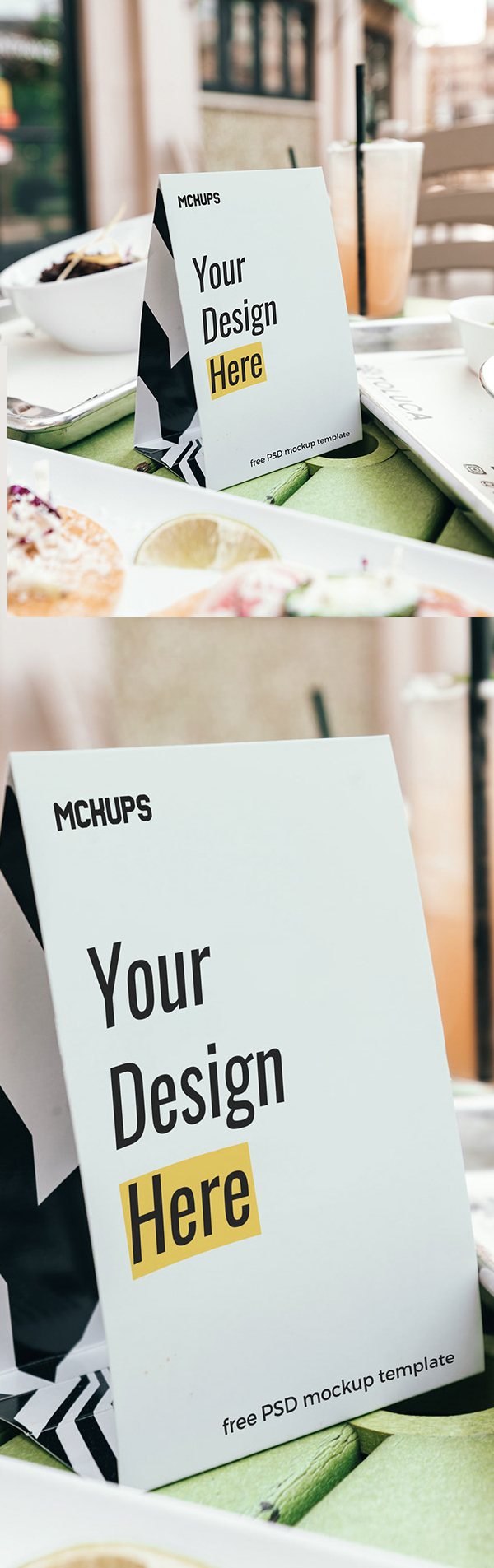 Free Table Tent Mockup