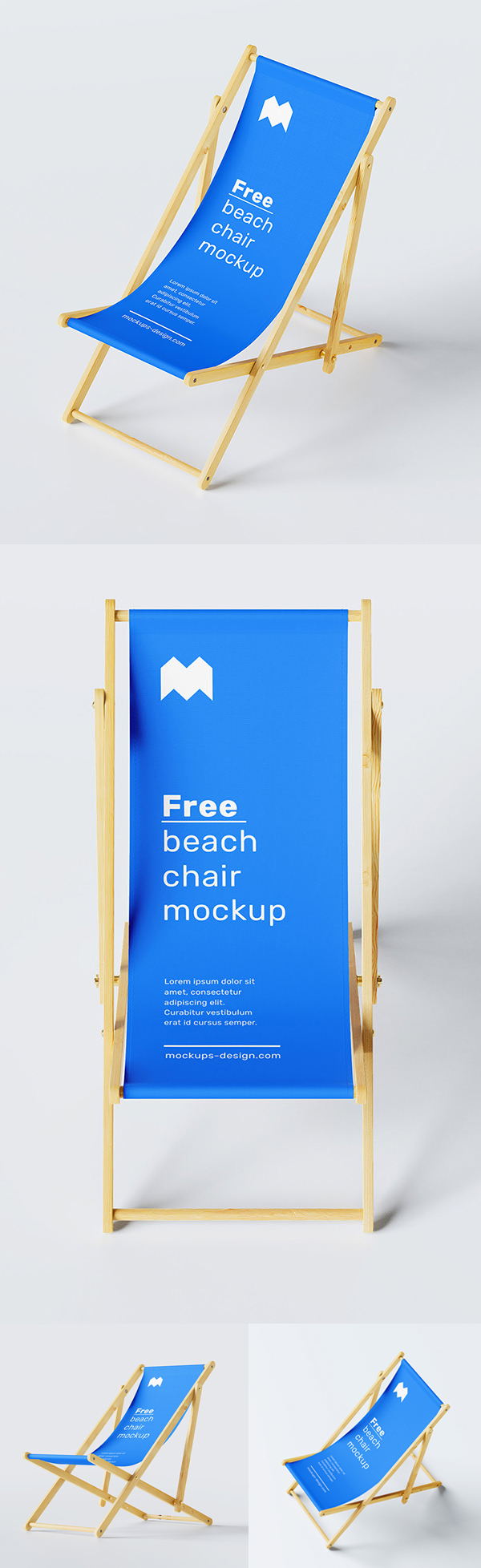 Free Beach Chair Mockup PSD