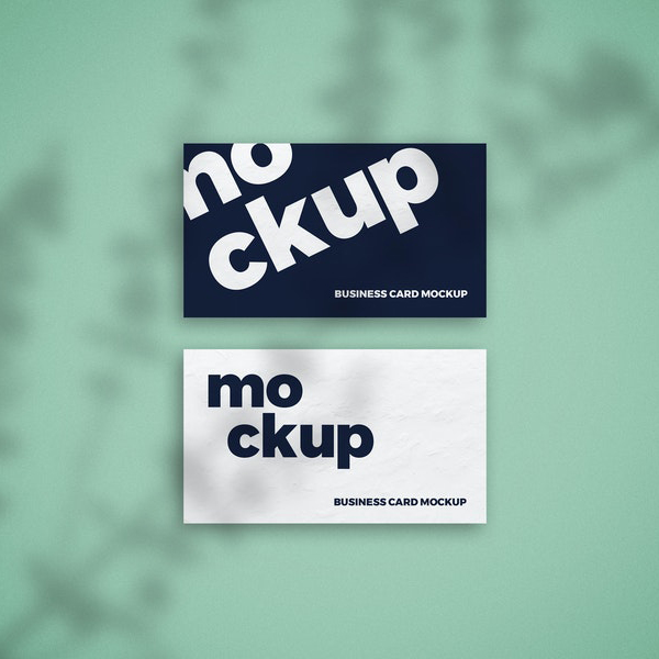Free Shadow Overlay Business Card Mockup