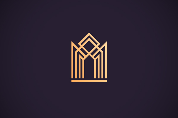 Luxury apartments logo by Paul Rover