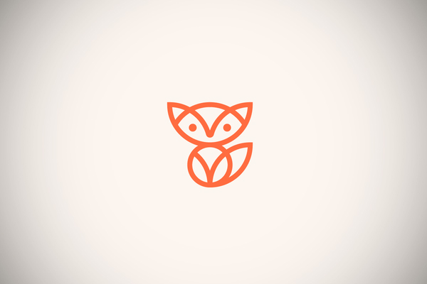 Fox Line Art Logo by Skirmantas Raila