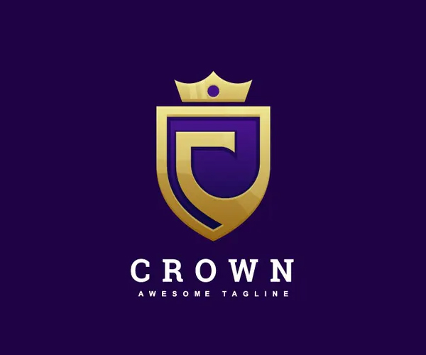 Abstract Letter C and Crown Luxury Logo Design