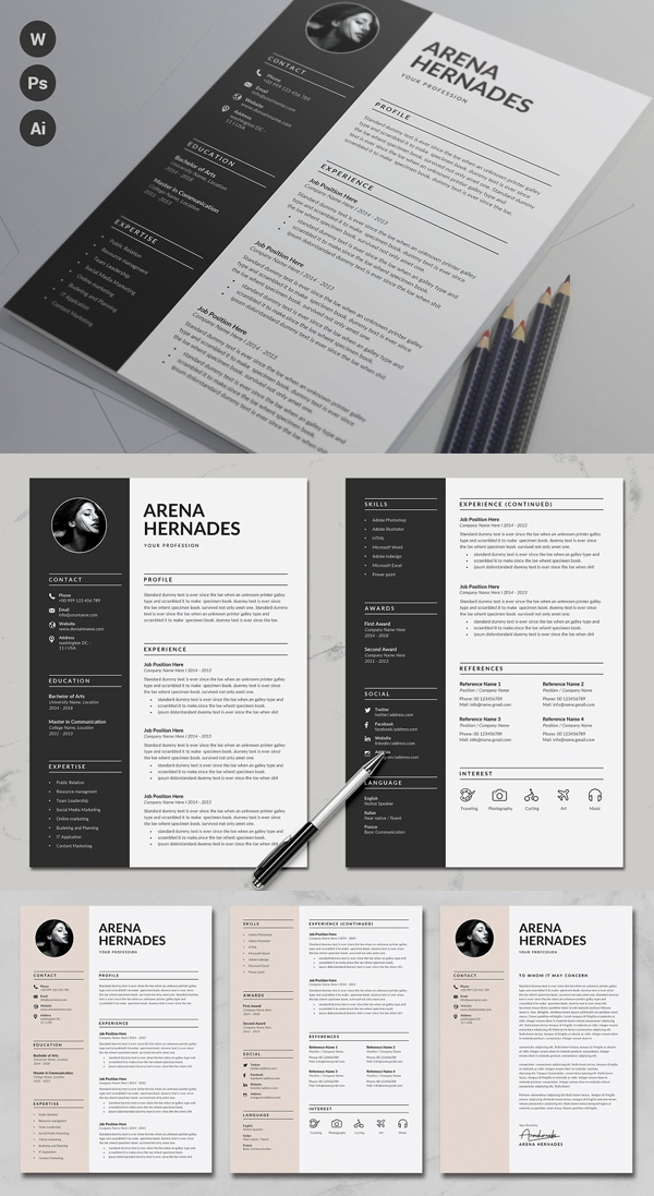 Creative Resume Template | CV + Cover Letter