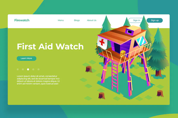 First Aid Watch - Banner & Landing Page