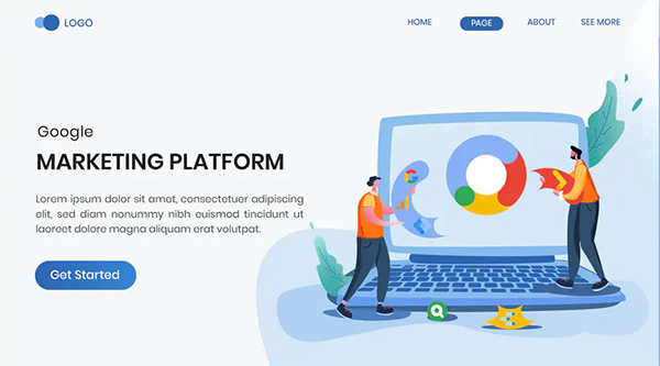 Marketing Platform Landing Page