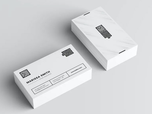 Simple White Business Card Design