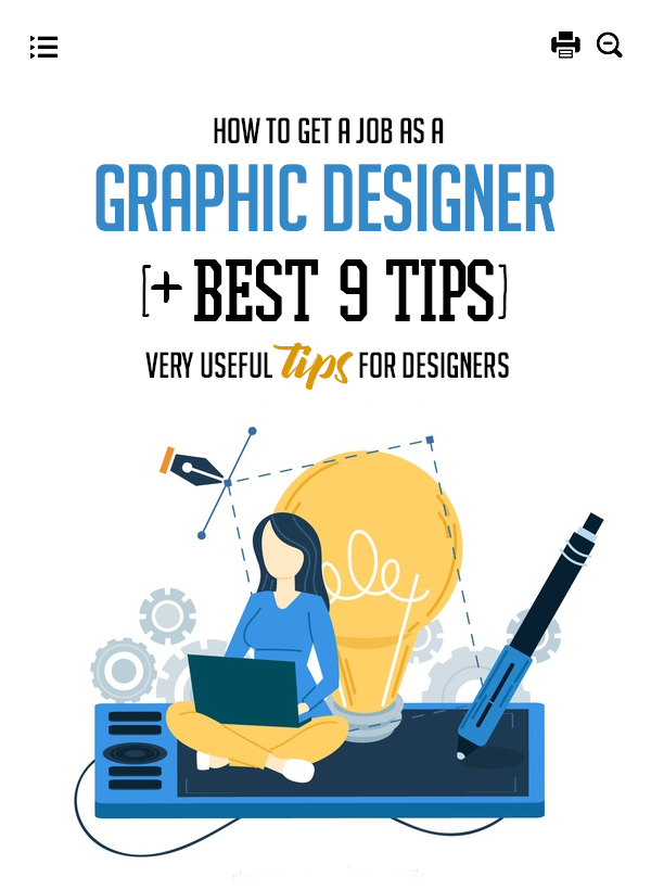 How To Get A Job As A Graphic Designer [+ Best 9 Tips]