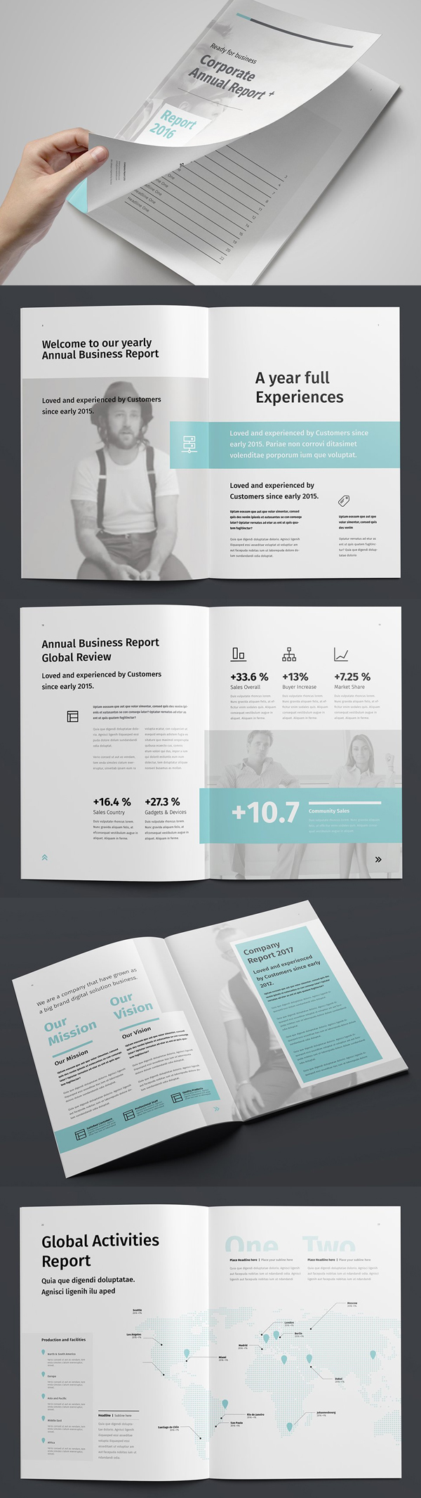 Simple Clean Annual Report