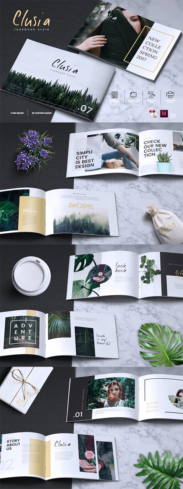 CLUSIA - Lookbook Brochure Catalogue