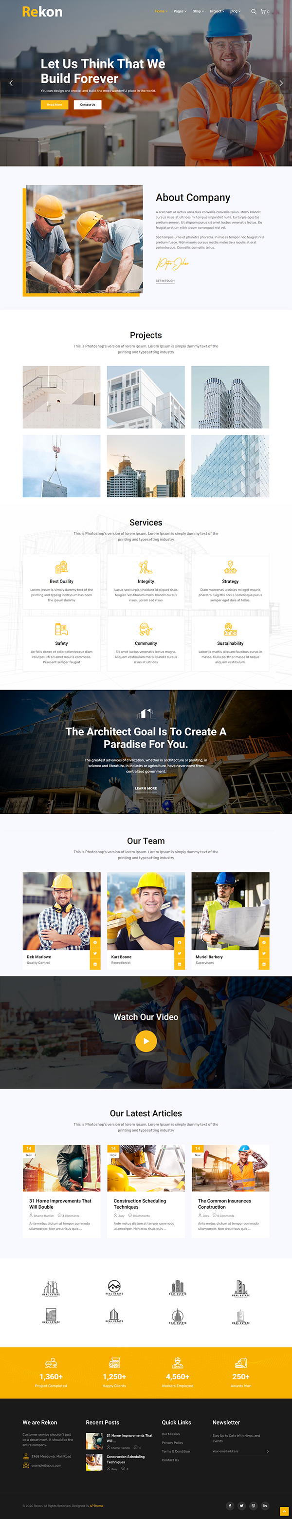 Rekon - Construction WordPress Theme