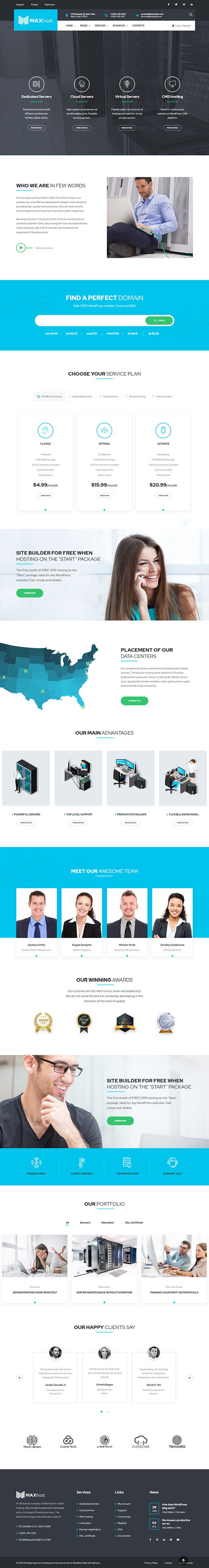 MaxWeb - Hosting & SEO Agency WordPress Theme