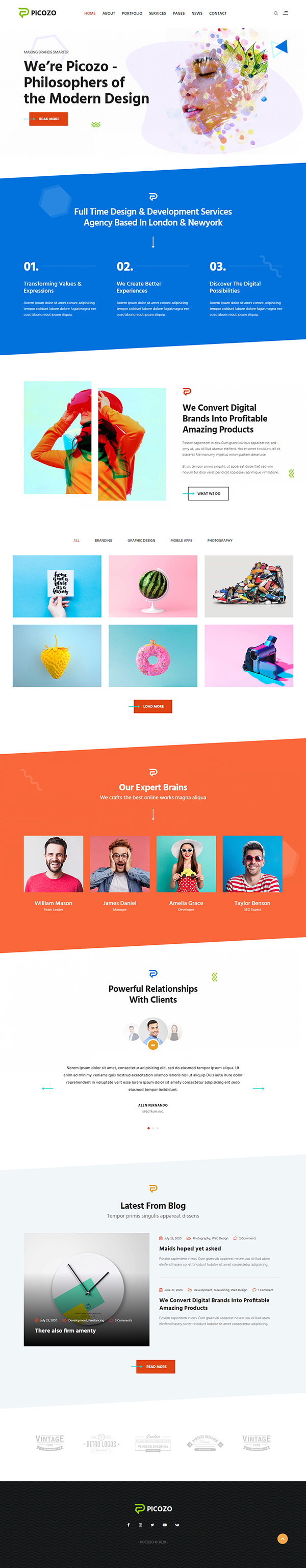 Picozo - Creative Agency & Portfolio WordPress Theme