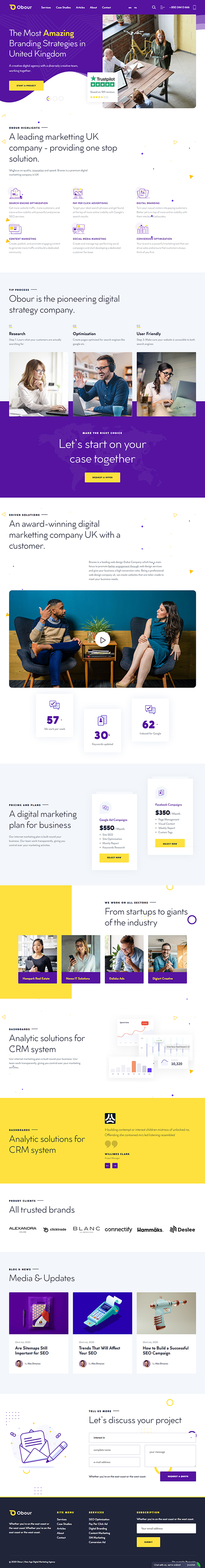 Obour | Digital Marketing Agency WordPress Theme