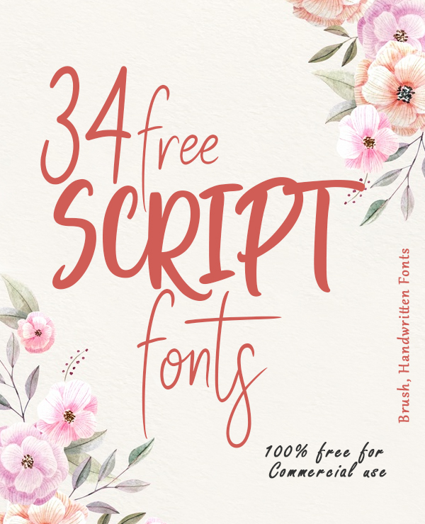 34 Free Script Fonts for Graphic Designers